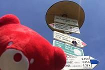 Zdeněk Koblic se vydal na běh po hranicích České republiky. Na zádech nese červeného medvěda, symbol projektu Nadace Terezy Maxové.