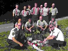 Hasiči v Rybitví uctili památku svých kolegů v Rybitví