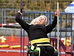 Ze sportovních klání handicapovaných sportovců na Městském atletickém stadionu v Pardubicích