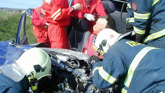 Těžká dopravní nehoda u Přelouče.