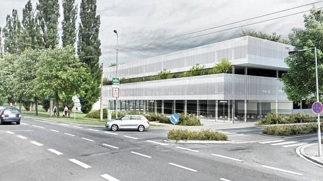 Projekt parkovacího domu u hokejové arény vypracoval architekt Michal Palaščák.