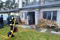 Zásah hasičů v Labských Chrčicích