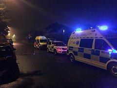 Údajný únik plynu v Přelouči se nekonal, záchranáři přesto měli práci.