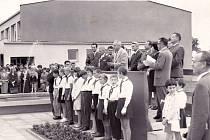 ZŠ Polabiny 1 v roce 1965. Takhle začínala.