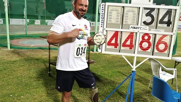 Jaroslav Petrouš s novým rekordem v hodu diskem