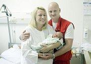 ŠTĚPÁN NETEK se narodil  19. března v 16 hodin a 11 minut. Vážil 3950 gramů a měřil 52 centimetrů. Maminku Anetu podpořil při porodu tatínek Václav. Bydlí ve Starých Čívicích.