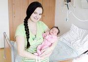 VERONIKA RÁCOVÁ se narodila 26. března v 1 hodinu a 5 minut. Měřila 48 centimetrů a vážila 3150 gramů. Rodiče Žaneta a František bydlí v Přelouči.