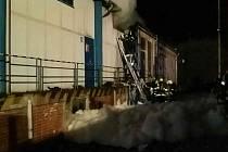 Požár trafostanice v Trnávce.