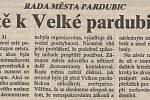 Čtvrtá strana Pardubických novin ze dne 16. října 1992. Zdroj: Státní okresní archiv Pardubice