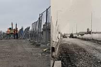 Oprava nadjezdu Kyjevská dnes a v roce 1992.