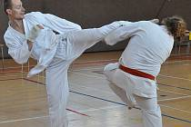 Semináři moderního sportovního karate v Hanušovicích s pardubickou účastí.