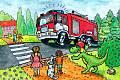 Maskotem projektu je hasičský dráček