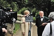 Libuše Švormová a Stanislav Zindulka filmovali v Bubeníkových sadech.