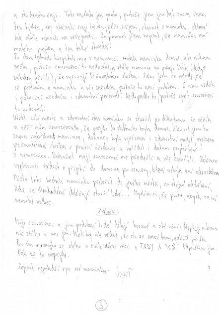 Dopis čtenáře