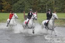Hubertova jízda Střední školy chovu koní a jezdectví v Kladrubech nad Labem.