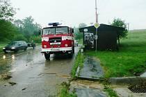 Následky přívalových dešťů museli likvidovat hasiči po celém Pardubickém kraji
