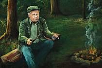 """Jiří """"Fred"""" Jedlička na obrazu od malíře Pavla Blinky"""