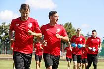 První trénink FK Pardubice v 1. české fotbalové lize na hřišti pod Vinicí v Pardubicích