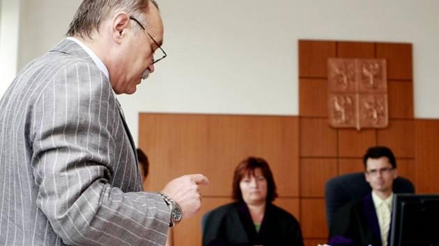 Jaroslav Kout u pardubického soudu