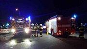 Autobus s 15 cestujícími se střetl u Dražkovic s osobním autem. Zdroj: HZS PAK