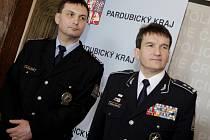 Radek Malíř (vlevo) a policejní prezident Oldřich Martinů