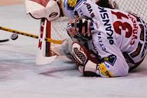 Hokejové utkání mezi HC Moeller Pardubice a HC Slavia Praha