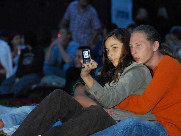 Letní kino v pardubických Tyršových sadech, první projekce