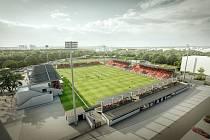 Aktuální podoba projektu rekonstrukce Letního stadionu (říjen 2021)