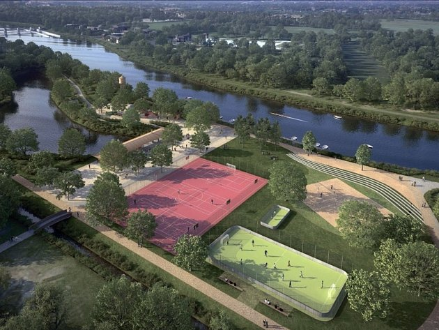 Plánovaná rekreační zóna v parku Na Špici