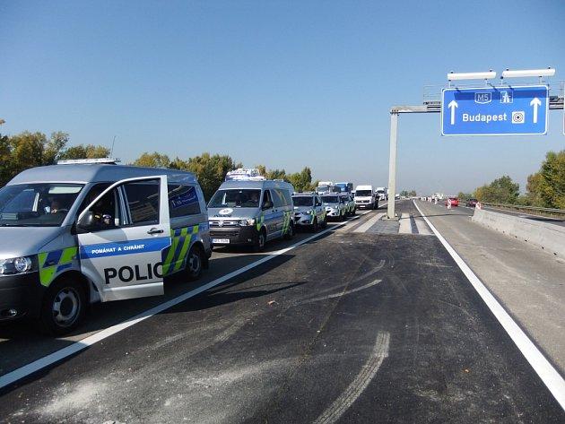 Česká policejní výprava vMaďarsku.