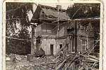 Snímky ze srpnového náletu na Pardubice v roce 1944