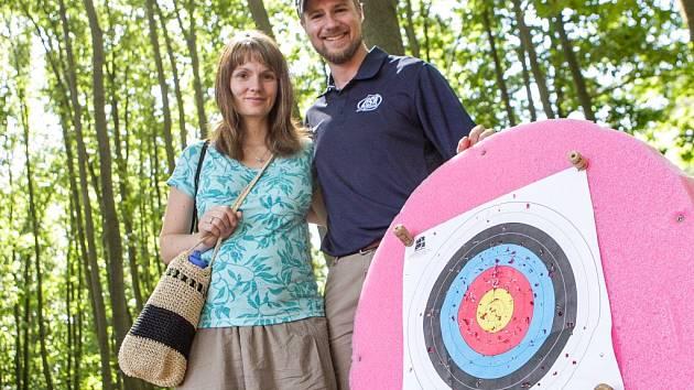 Manželé Kateřina a Matt Emmons v Pardubicích.