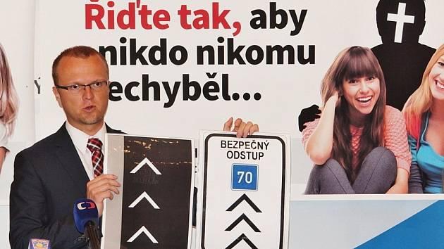 Prezentace kampaně za bezpečnou silnici I/35