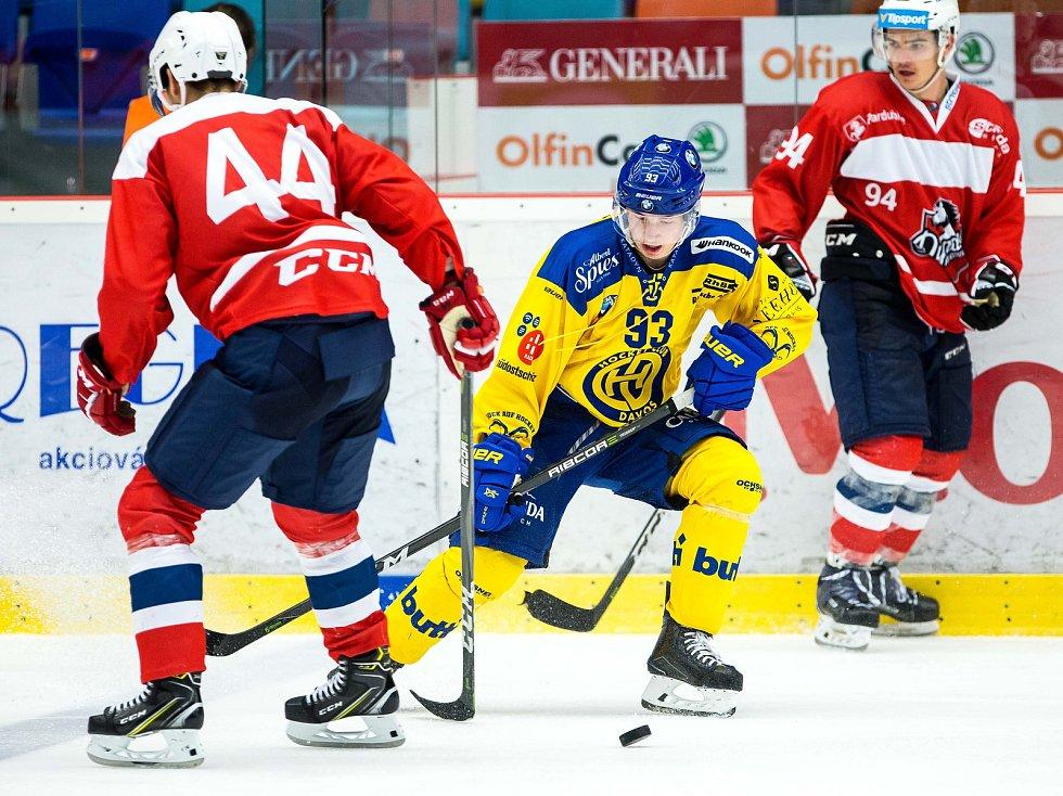 Hokejový Mountfield Cup: HC Dynamo Pardubice - HC Davos.