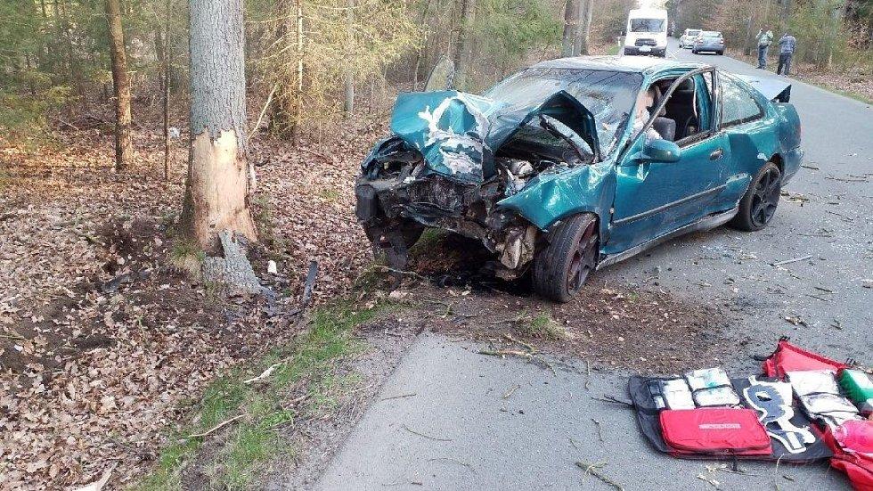 Dopravní nehoda u Horního Jelení