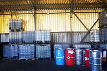 Skladované oleje ve společnosti Rekla