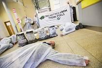 Protesty proti elektrárně Chvaletice