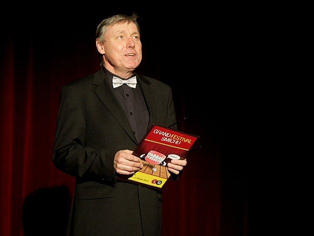 Ředitel divadla Petr Dohnal na Galavečeru smíchu 2013