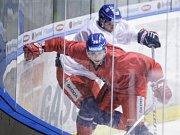 Trénink České hokejové reprezentace před Carlson hockey games v pardubické Tipsport areně.