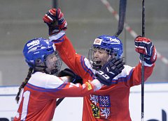 Hokejbalové utkání MS žen mezi Českou republikou a Velkou Británií v pardubické Tipsport Aréně.
