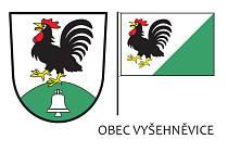 Znak a vlajka obce Vyšehněvice