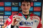 Pardubický útočník František Formánek vstřelil svůj první gól v hokejové extralize.