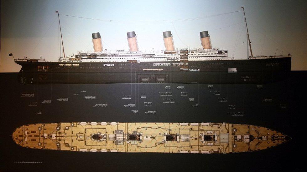 Z výstavy Titanic, která se v roce 2018 konala na brněnském výstavišti.