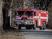 Nosorožec. Nová cisternová automobilová stříkačka bohdanečských dobrovolných hasičů.