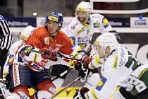 Z hokejového utkání Pardubic proti Karlovým Varům