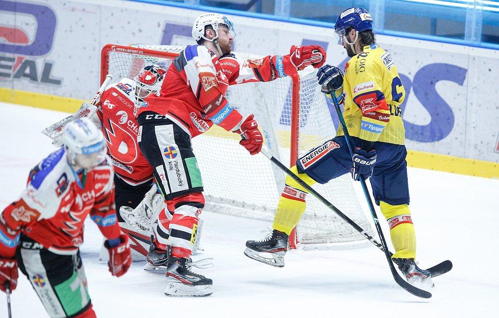 Hokejová extraliga: HC Dynamo Pardubice - Madeta Motor České Budějovice.