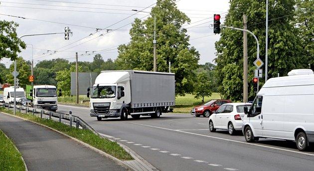 Křižovatka Pardubice - Doubravice.