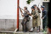 Boje před krajským úřadem jako pozvánka na akci Cihelna 2015