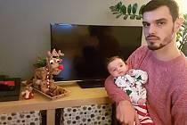 Viktor Půlpán s dcerou