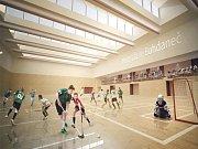 Nějak podobně by mohl  vypadat interiér nové sportovní haly ve městě Lázně Bohdaneč.